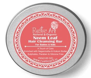 Neem Leaf Hair Cleansing Bar For Babies & Kids (Shampoo Bar)