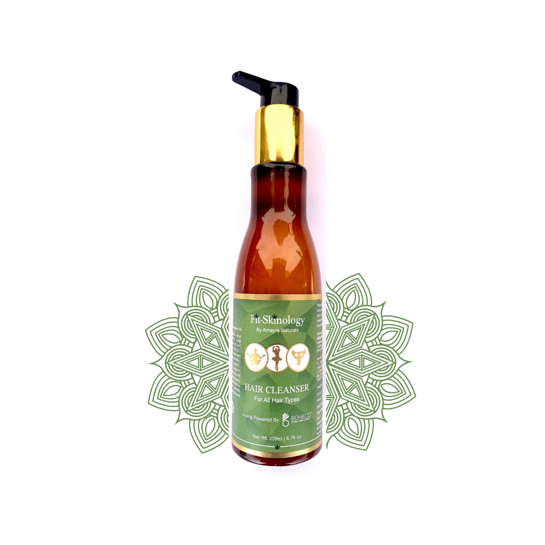 Amayra Naturals Fit Skinology Hemp seed Oil + Rosemary + Mint  Shampoo - 200ml